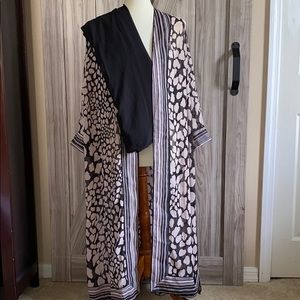 Roamans 38 Sexy Sheer Duster  Long Kimono Pant Set